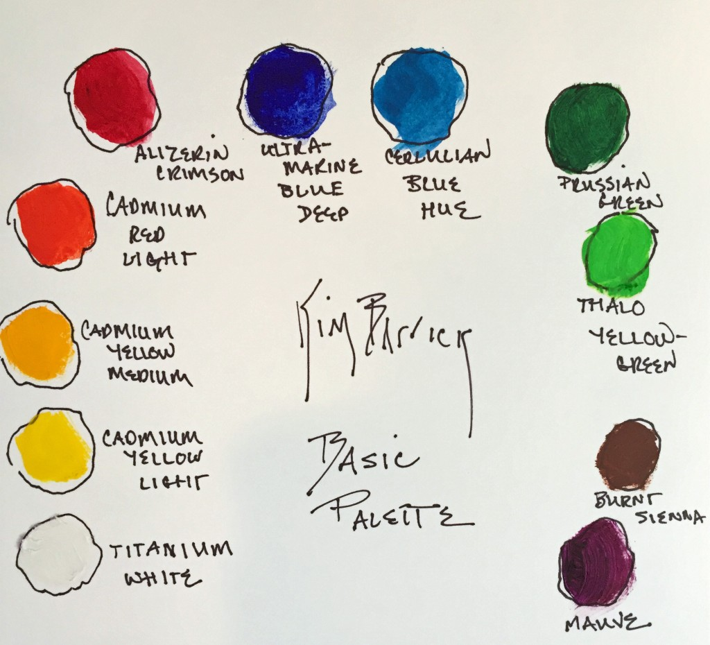 drawing of basic palette